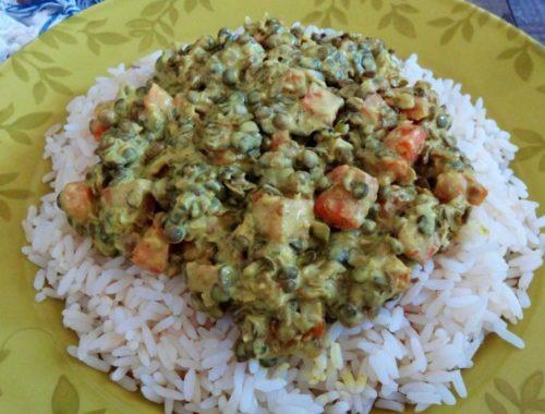 curry de lentilles aux carottes et lait de coco