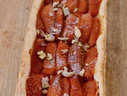Tarte aux abricots et pistaches